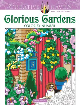 Creative Haven Glorious Gardens Color by Number Coloring Book. Kolorowanka według numerków